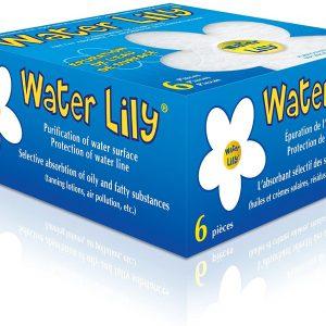 Water lily - purificateur d'eau - Boite de 6 fleurs Blanc/Jaune